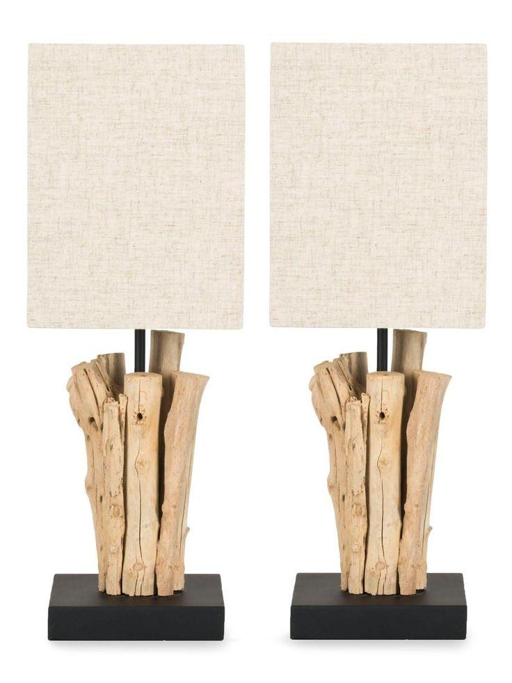 Create using beach wood, glue and a pole style lamp.