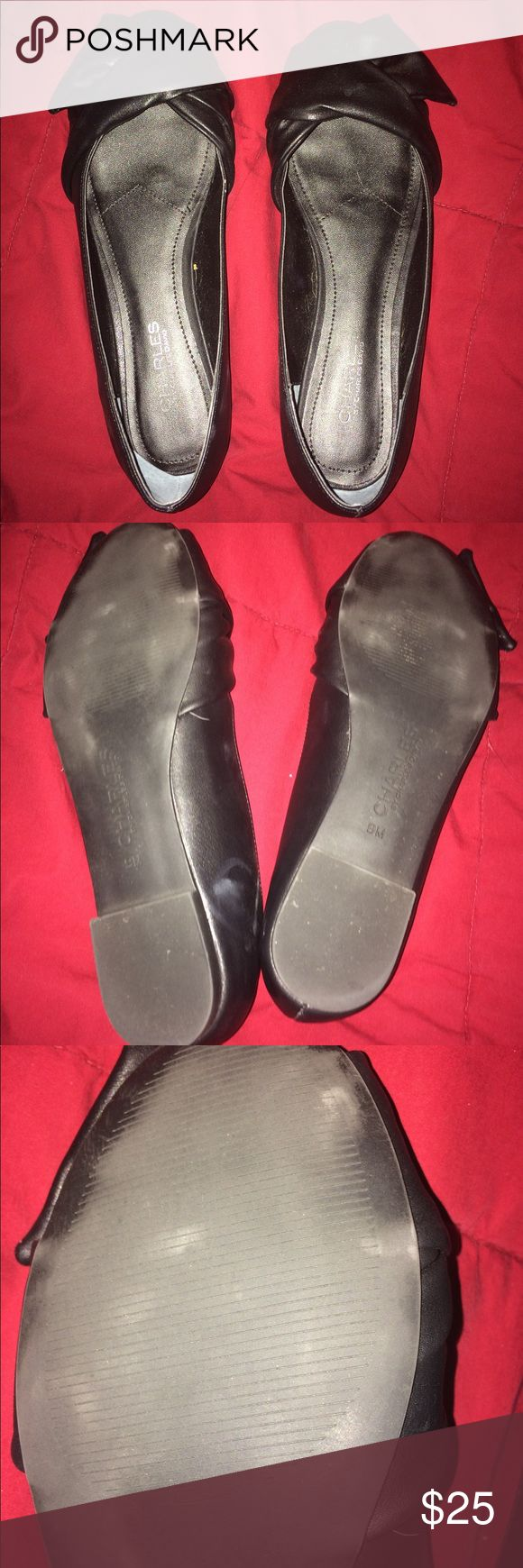 Charles by Charles David flat Black rounded toe flat by Charles David. Worn twice in excellent condition size 9 medium. You can see in the bottom pictures of mild scuffing on the sole of the shoe. I accept bundles and offers Charles David Shoes Flats & Loafers