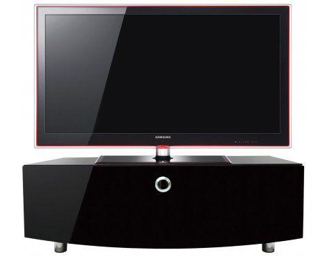 MDA Designs Cubic Curve high gloss black TV cabinet | The Plasma Centre