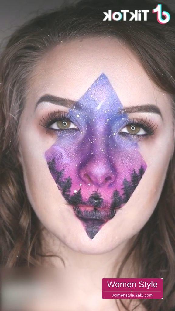 Amazing Makeup Of Northern Sky Super Cool Download Tiktok Now To Find More T Amazi Makeup Tutorial Video Perfect Makeup Tutorial Makeup Hacks Videos
