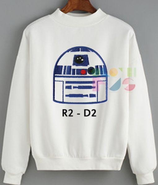 Star Wars R2 D2 Sweatshirt – Adult Unisex Size S-3XL