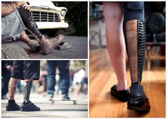 El día que haces que una persona quiera tener una pierna prostética, es el día en que eres el diseñador más chingón del mundo. PUNTO.