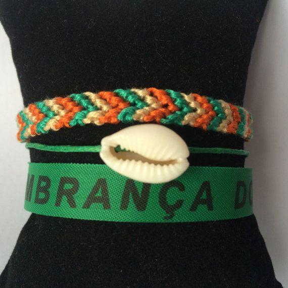 Bracelet brésilien multirangs Coquillage vert dans par PauseCouleur