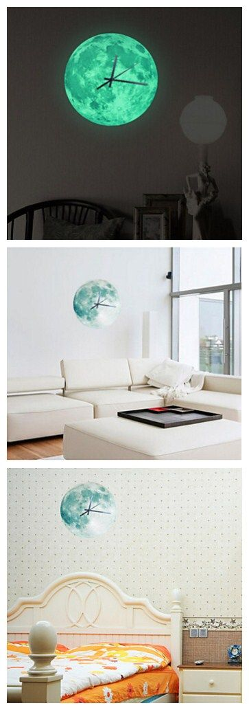"""We can't decide if a glow in the dark moon clock decal will make a room geekier or more romantic. What do you think? Get it here and don't miss out our sales. Don't forget to use your coupon for discount: """"PTL10331"""" to save your more in your next shop!"""