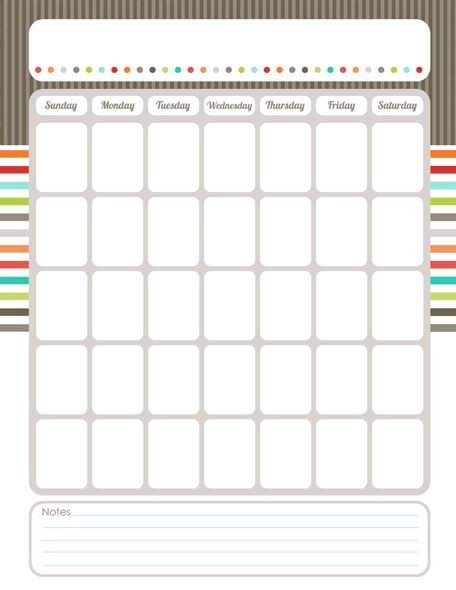 Organizing Calendar - editable printables...and stickers!