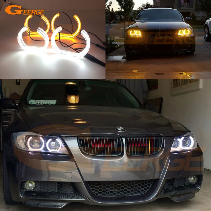 Find More Car Light Accessories Information about For BMW 3 Series E90 E91 2006 2007 2008 Xenon headlight Excellent DTM Style LED Angel Eye Kit Dual White Amber switchback,High Quality Car Light Accessories from Geerge-Tech on Aliexpress.com