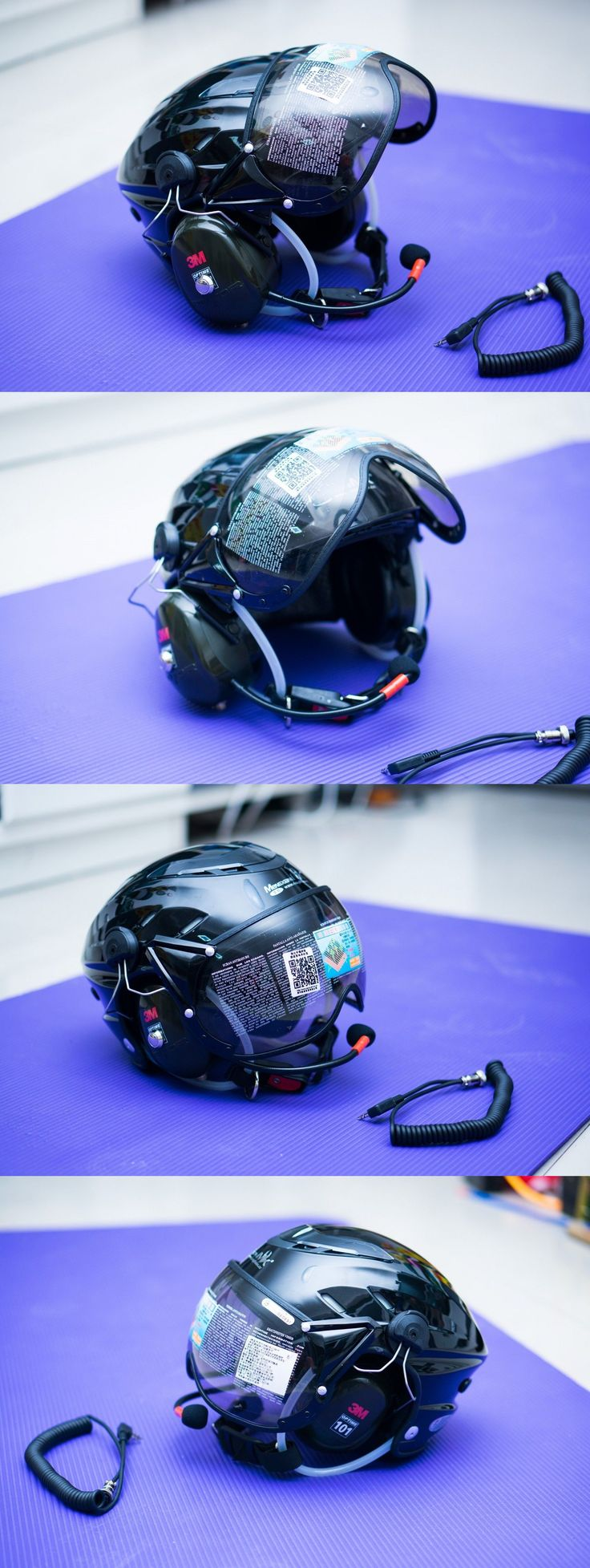Hang Gliding and Paragliding 91561: Mx-02 Ppg Helmet Visor Powered Paragliding Paramotor Headset Gopro Base Black BUY IT NOW ONLY: $269.0