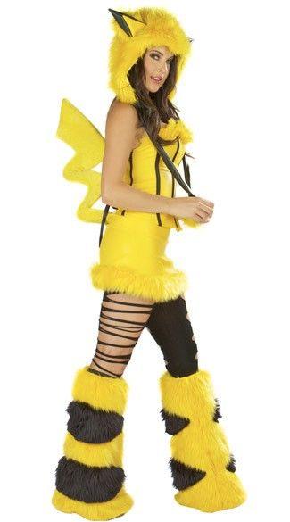 Aliexpress.com : Buy Halloween costumes yellow PiKaQiu plush animals play clothes uniform temptation little devil COS female suit, free ship...