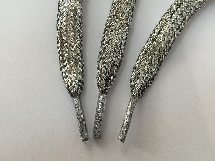 44 inches (110  cm) long Silver Shoelace, Shimmery Shoelace, Glitter Shoelace, Shiny Shoelace, Shimmery Cord, Shiny Cord by NoaElastics on Etsy