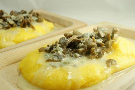 Ricetta Polenta funghi e gorgonzola