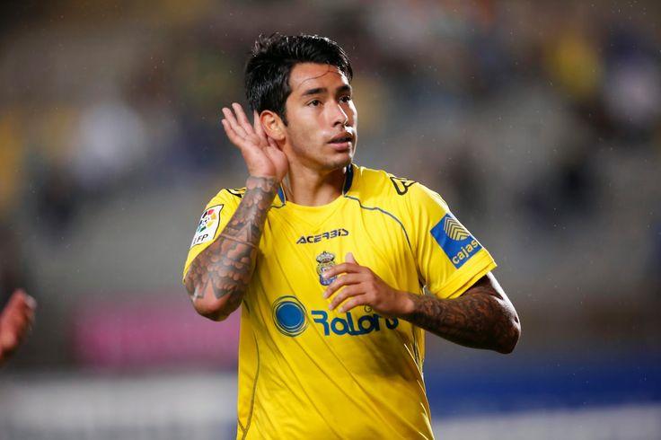 @UDLasPalmas el delantero argentino Sergio Araujo #9ine
