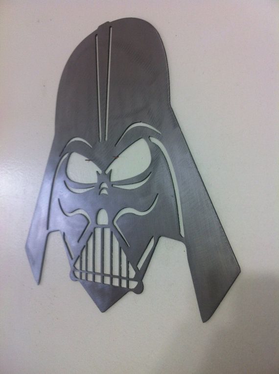 For the Ultimate Star Wars fan here is a cnc steel cut Darth Vader Mask.    Made from 16 gauge steel    Size is Approximately 12 x 12    Shipping