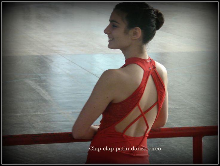 Malla para patin artistico en Lycra de seda y encaje elastizado