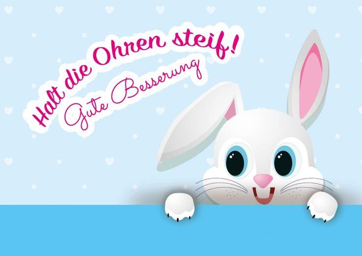 Halt die Ohren steif! | Gute Besserung | Echte Postkarten online versenden | MyPostcard.com