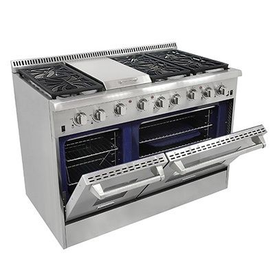 Thor Kitchen 48-inch Stainless Steel Professional Gas Range with 6 burners and Griddle   Overstock.com Shopping - The Best Deals on Ranges & Ovens