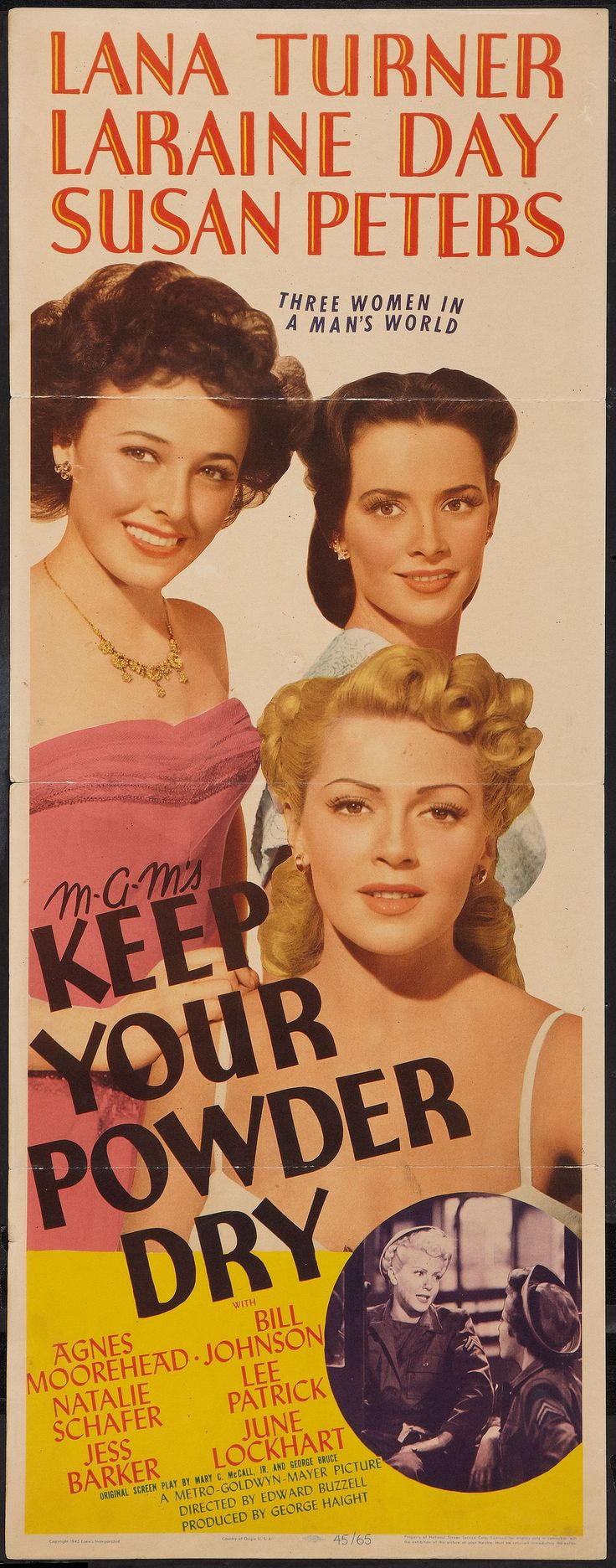 "Lana Turner, Laraine Day, Susan Peters in ""Three Women in a Man's World"""