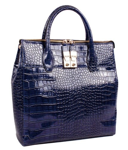 the best Cobalt Blue Anytime Tote BACK TO SCHOOL SALE for Her iPad 2 Fits 16GB 32GB 64GB Wi-Fi and Wi-Fi   3G (B029) Includes a Silk Like Scarf - Colors and Styles for Scarf May Vary: Lady Pur, Blue Crocodiles, Gators Prints, Cobalt Blue, Gifts Online, Graduation Gifts, Bags Lady, Complimentary Shorts, Dark Blue