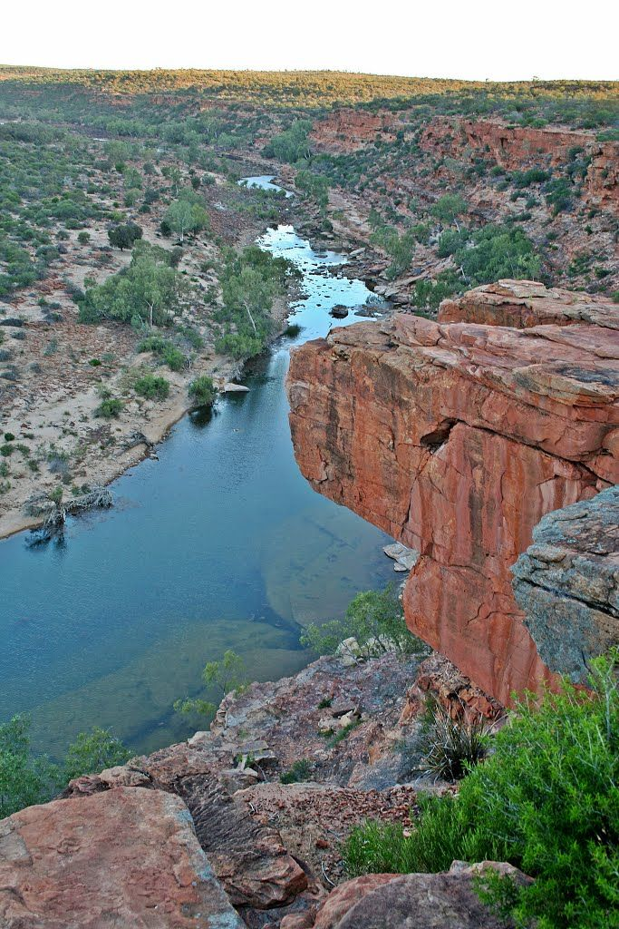 Kalbarri National Park - Murchison River Gorge from Hawks Head. www.kalbarri.org.au
