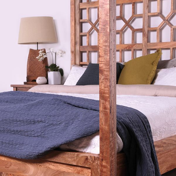 Cosy up to luxury in our Stark 4 Poster Bed.