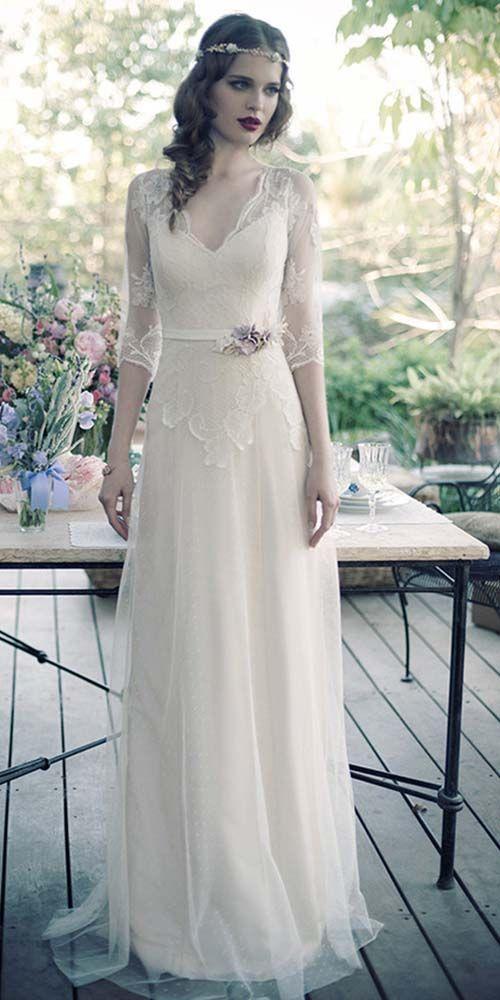 24 Vintage Inspired Wedding Dresses ❤ See more: http://www.weddingforward.com/vintage-inspired-wedding-dresses/