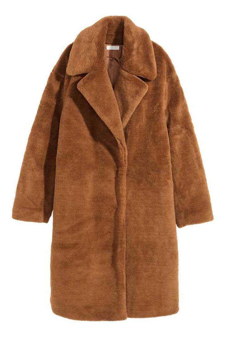 Cappotto in finta pelliccia - Marrone - DONNA | H&M IT