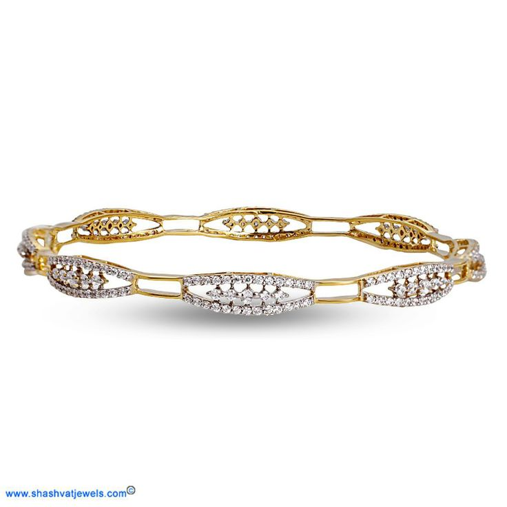 This wave pattern bangle that can be worn singly or in a pair is just what you need to add a touch of sophistication to your classic look! #diamond #bangle #for #her http://www.shashvatjewels.com/ProductDetail.aspx?prdid=840&name=Nyla%20Diamond%20Bangle All our designs are available in white gold and silver..!!