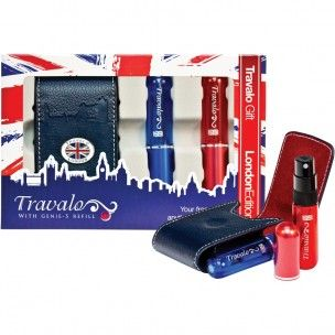 "London Mania (in tema di Royal Baby Mania)! Travalo Porta Profumo da Viaggio in Edizione Limitata ""Flag"" dedicato a chiunque si emozioni di fronte alla Union Jack ;) - Shop Online http://bit.ly/17aQevl  #royalbaby #uk #london #travalo"