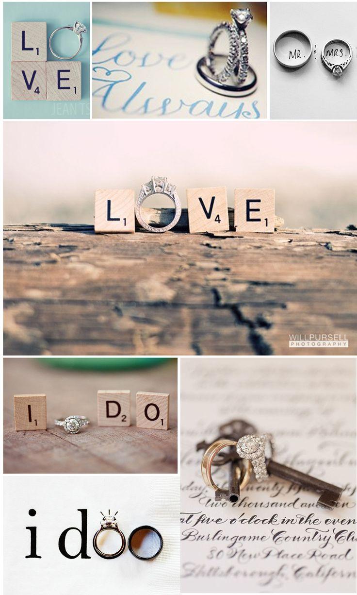 Magnifique photos d'alliances, jouez avec les lettres, avec les pages. A faire absolument pour son mariage!