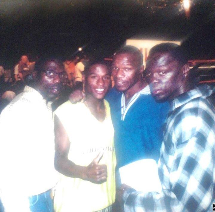 Roger Mayweather, 19 year old Floyd Mayweather Jr., Floyd Mayweather Sr. & Jeff Mayweather