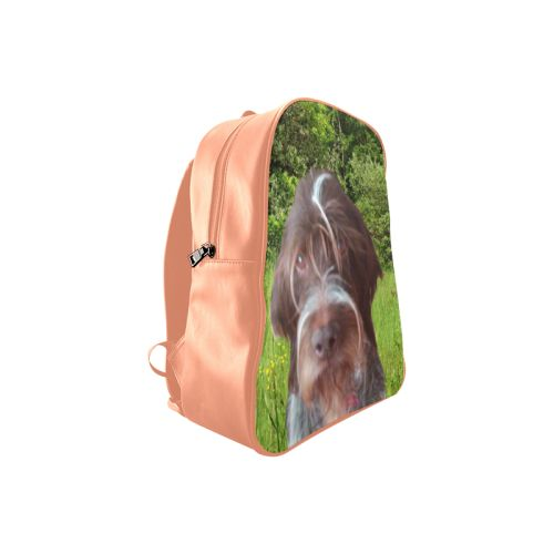 Dog and Flowers School Backpack. FREE Shipping. #artsadd #lbackpacks #dogs