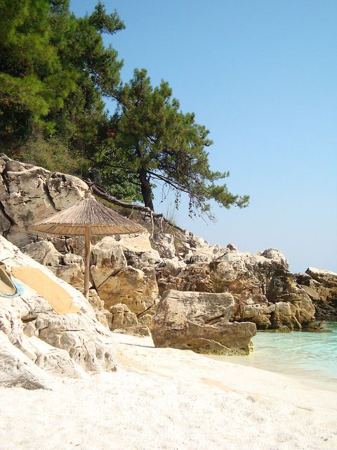 Marble Beach, Thassos by luci_abrudan, via Flickr