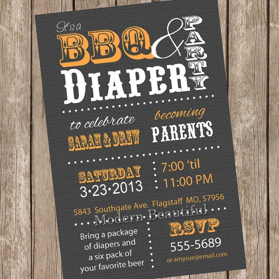 13 best beer posters images on pinterest beer poster drinks and couples bbq and diaper baby shower invitation grey orange diaper invitation couple baby shower printable invitation malvernweather Choice Image