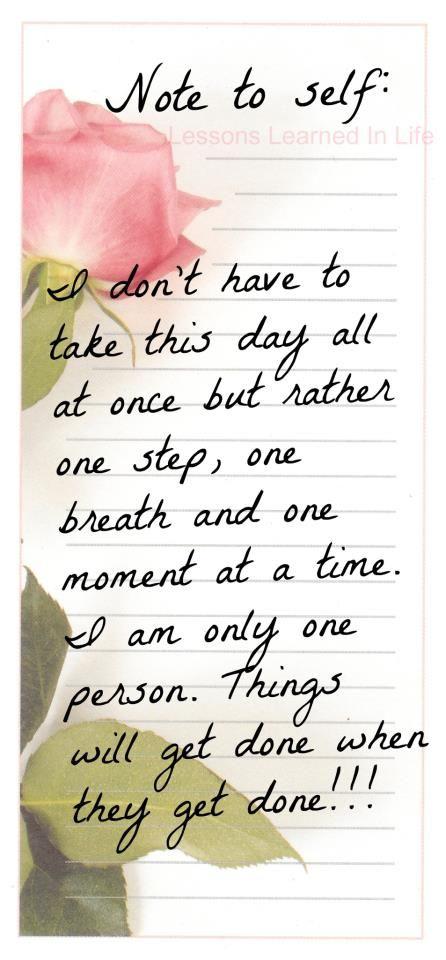 Note to self . . . Life with Fibromyalgia/ Chronic Illness
