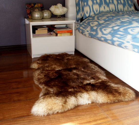 GIANT SHEEPSKIN Mouflon Throw Genuine leather by TrendingSlippers