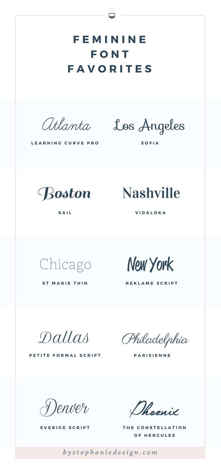 feminine fonts for free - by stephanie design