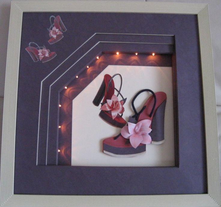 """chaussure 2 """" Louboutin """" - Artisanat ©2013 par Mad -                                                            Art nouveau, Papier, Fantaisie, chaussure en 3 D"""
