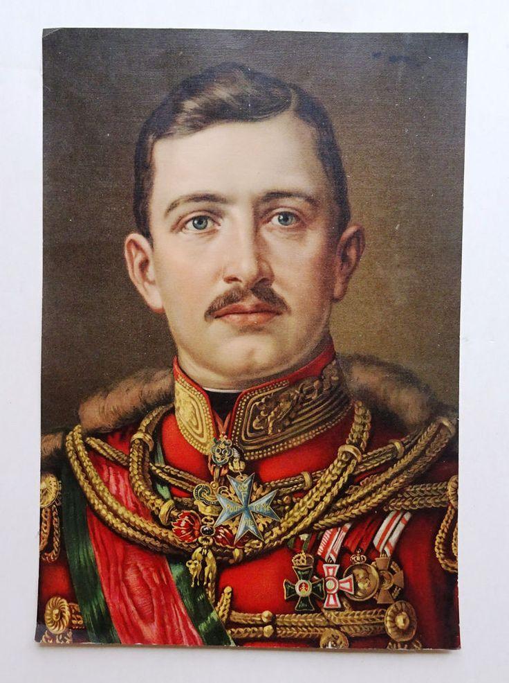 kuk Austria Kaiser Karl I. Habsburg Portrait großer Öldruck Uniform Orden Husar