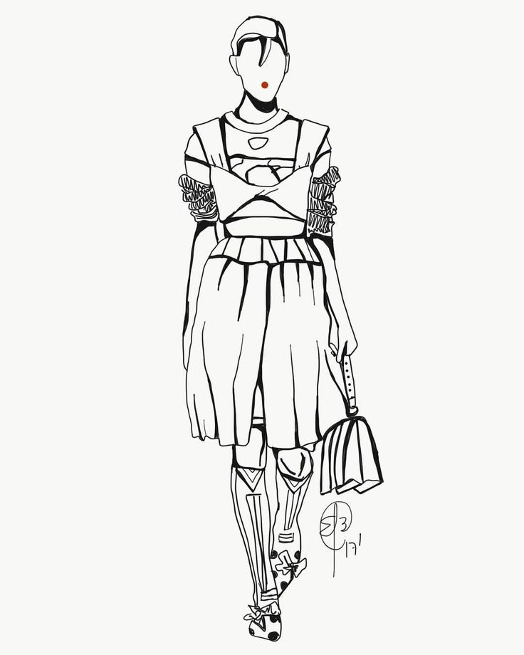 """8 Likes, 1 Comments - Endrina Aponte Colina (@endribeg.illustrations) on Instagram: """"Inspired by Prada SS18 Collection • • • #fashion #fashionillustrator #fashionillustration #moda…"""""""