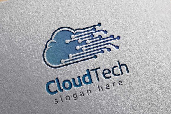 Cloud Tech Logo, Cloud Internet logo  @creativework247