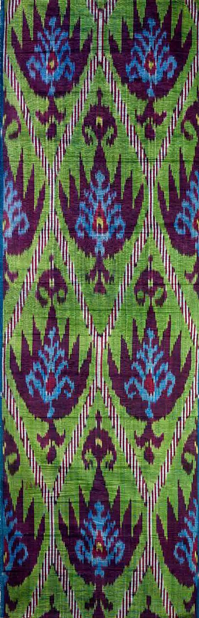Central Asian ikatColours Combinations, Blue Green, Beautiful Colours, Cotton Ikat, Blue Ikat, Asian Textiles, Albert Museums, Central Asian, Asian Ikatl