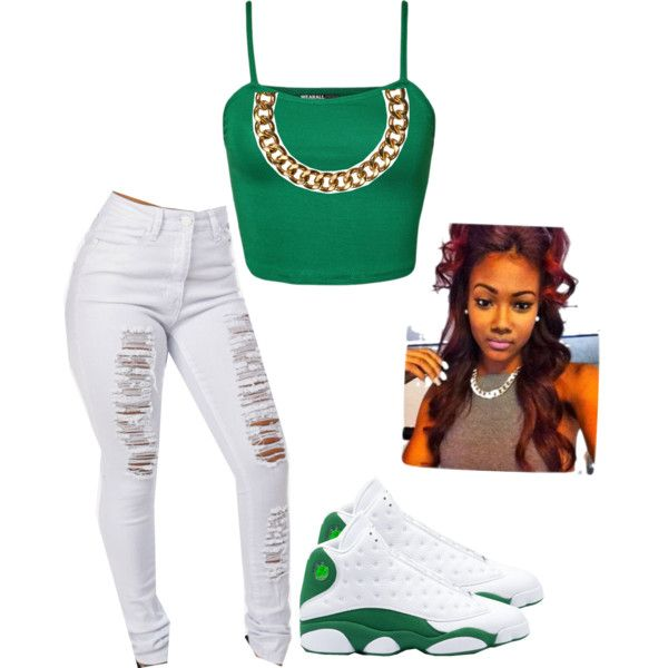 A fashion look from November 2014 featuring skinny jeans, green cami and white shoes. Browse and shop related looks.