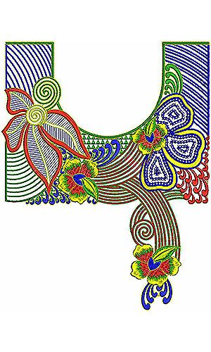 Embroidery Pattern For Neck Kurta Embroidery