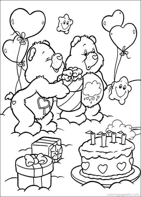 283 best care bears coloring pages images on Pinterest Care