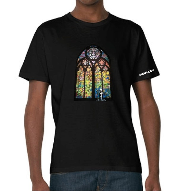 Banksy Stained Glass Window T-shirt    Simply Repin this T-shirt to be in with a chance of winning it! #PinIt2WinIt