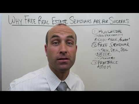Why Free Real Estate Seminars are for Suckers - http://www.sportfoy.com/why-free-real-estate-seminars-are-for-suckers/