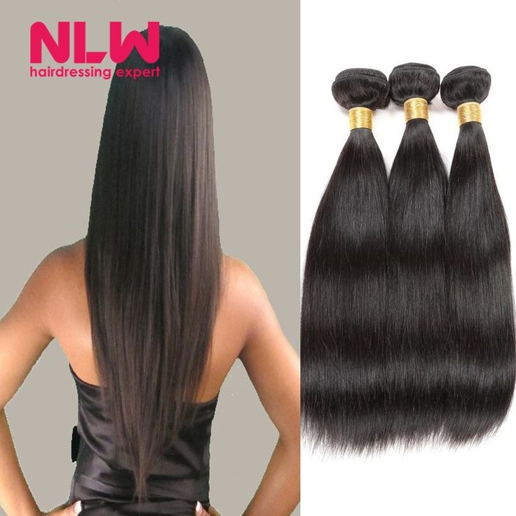 (90.00$)  Watch more here - http://aiblr.worlditems.win/all/product.php?id=32738479019 - Machine sewing Malaysian Straight Virgin Human Remy Hair Weaves 3 Bundles Weft 100 Human Hair Sew In Extensions for Black Women