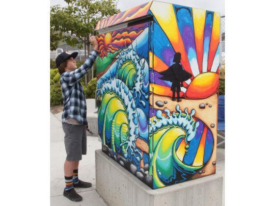 1000 images about power box murals on pinterest for Jackson 5 mural