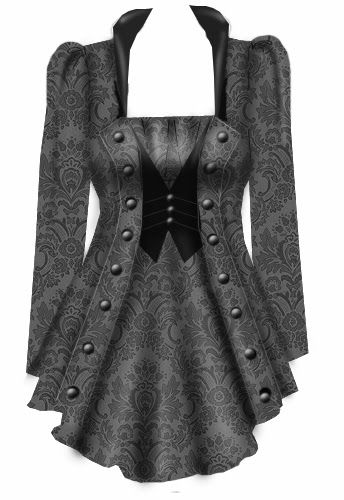 Steampunk Layered Top <<-- Looks more like a jacket or dress or something to me. Whatever it is, it's cool :)