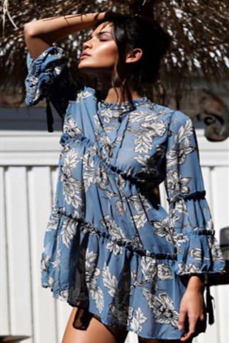 Reverse - Odyssey Dress (Blue Floral)