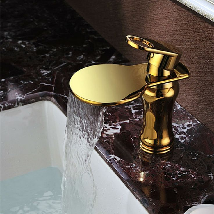 JMKWS Luxury Basin Faucet Mixer Golden Silvery Bathroom Faucets Modern Water Tap Waterfall Wall Faucet Wash Basins Accessories